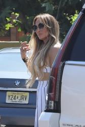 Jennifer Lopez - Out for dinner in Malibu 7/8/18