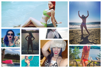 Skye Sweetnam - Bikini Collage