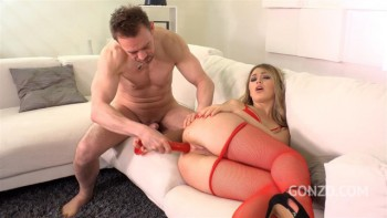 Big Booty blonde Selviagga 4on1 Double Anal & Deepthroat in Fishnets FS006 (2018) 2160p