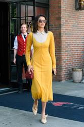 Nina Dobrev - Leaving her hotel in NYC 8/8/18