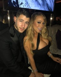 Mariah Carey and Nick Jonas at the InStyle and Warner Bros. Golden Globe Awards After Party in Beverly Hills - 1/7/17