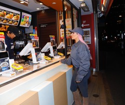 Kim Kardashian at McDonald's in Tokyo, Japan - March 2018