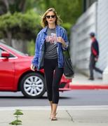 Emily VanCamp - Leaving a hair salon in LA 5/23/18