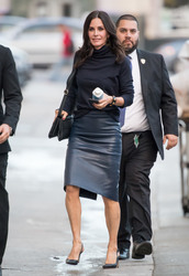 Courteney Cox - Arriving at 'Jimmy Kimmel Live!' in Hollywood 1/7/19