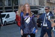 Alexina Graham - Arriving at the Vogue Dinner Party in Paris 7/3/18