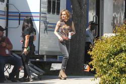 Brie Larson - On the set of 'Captain Marvel' in LA 3/29/18