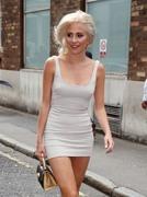 Pixie Lott - Arriving at AOL Build Studios in London 7/17/18