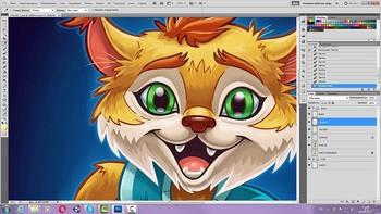Персонажная иллюстрация в программе Adobe Photoshop (Видеокурс)