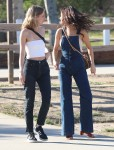 Selena Gomez at Lake Balboa park in Encino 02/02/2018c2efb9737637783
