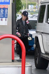 Lucy Hale - At a gas station in Studio City 5/1/18