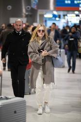 Dakota Fanning - At Charles de Gaulle Airport in Paris 1/21/19