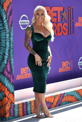 Amber Rose - Cleavage At The 2018 BET Awards In Los Angeles (6/24/18)