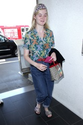 Elle Fanning - At LAX Airport 4/20/18