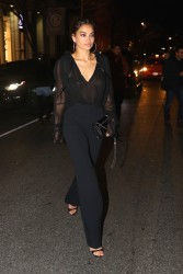 Shanina Shaik - Out for dinner in NYC 2/12/18