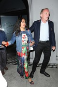 Salma Hayek - Out for dinner in West Hollywood 8/15/18