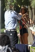Hailey Baldwin - Wearing a bikini on set of a photoshoot in LA 12/4/2018 f81e161053696614