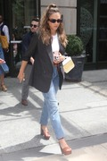 Jessica Alba - Leaving a meeting in NYC 7/24/2018 170d03931388944