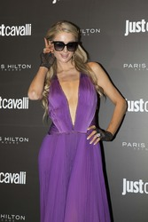 Paris Hilton - 'ProD.n.a Skincare' Launch Party at the Just Cavalli club in Milan 10/20/18