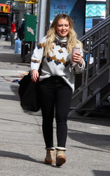Hilary Duff - On the set of Younger in NYC 3/7/19