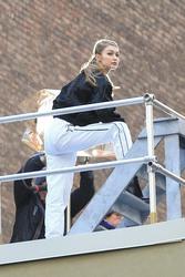 Gigi Hadid - On set of a photoshoot in NYC 3/7/19