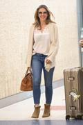 Elizabeth Hurley - At JFK Airport 5/16/18