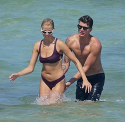 Hailey Clauson - Bikini candids in Miami 7/15/18