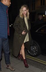 Jennifer Lawrence - Out for dinner in London 2/17/18