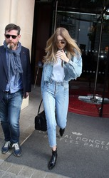 Gigi Hadid - Leaving her hotel in Paris 5/3/18