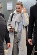 Bella Hadid - Arriving in Milan, Italy 1/13/18