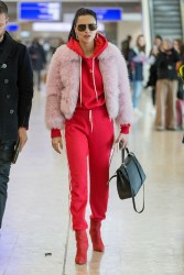 Adriana Lima - At Geneva International Airport 1/17/18