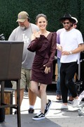 Rachel Bilson - On the set of Extra in LA 6/18/18