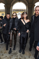 Gigi & Bella Hadid - Leaving the TODS fashion Show in Milan 2/23/18