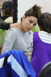 Eva Longoria - At a nail salon in Beverly Hills 1/21/19
