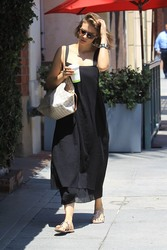 Lauren Cohan - Arriving at a nail salon in Beverly Hills 8/1/18