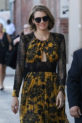 Lauren Cohan - Arriving at Jimmy Kimmel Live in Hollywood 7/23/18