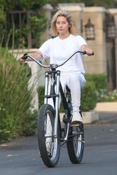Ashley Tisdale - Riding a bike in Toluca Lake 9/5/18