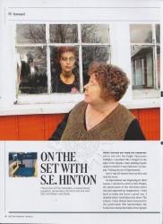 На съёмках с Сьюзен Хинтон