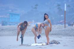 Kim Kardashian - Bikini candids in Malibu 7/10/18