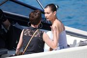 Bella Hadid boarding a yacht in Monaco 05/25/2018c42c55876374814