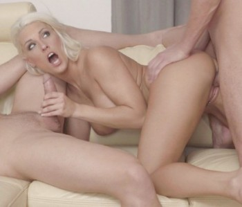 Blanche Bradburry - Blanche Bradburry Gives Dp Opportunity To Fiancee And His Boss (21.12.2017) 720p