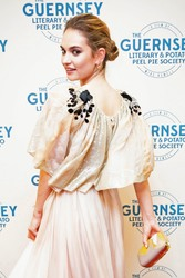 Lily James - The Guernsey Literary and Potato Peel Pie Society' Premiere in Guernsey 4/12/18