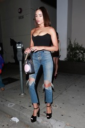 Olivia Culpo - Leaving Craig's in West Hollywood 8/2/18