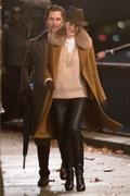 Michelle Dockery -             ''Toff Guys'' Set London Nov 28th 2018 With Matthew McConaughey .