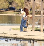 Selena Gomez at Lake Balboa park in Encino 02/02/201825c6cb737640333