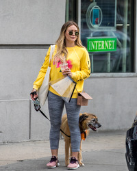 Hilary Duff - Walking her dog in NYC 5/6/18