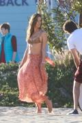 Alessandra Ambrosio - Bikini candids on set of a photoshoot in Santa Monica 4/11/19