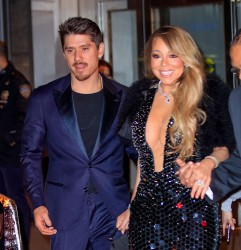 Mariah Carey - Rocks The Cleavage Leaving Clive Davis' Pre-Grammy Party in NYC (1/27/18)