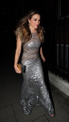 Elizabeth Hurley - Attending a birthday party in London 3/15/19