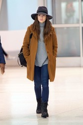 Lily Collins - At JFK Airport 12/2/18