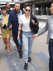 Kristen Stewart - Arriving in Nice, France 5/7/18